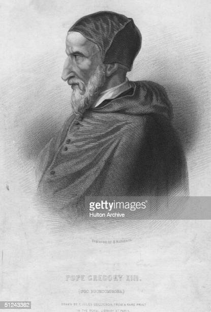 Circa 1580, Pope Gregory XIII . He introduced the reformed Gregorian calendar.