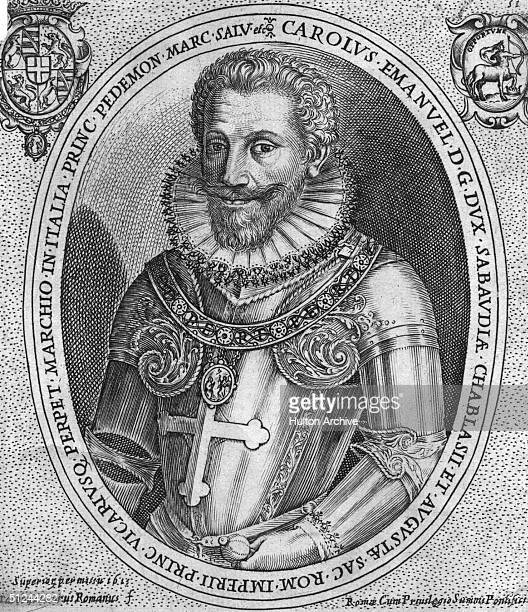 Circa 1600 Duke Charles Emmanuel I of Savoy in fine armour marked with a cross