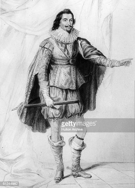 Circa 1620, George Villiers, the 1st Duke of Buckingham , an adviser and court favourite of King James I and later King Charles I. Original Artwork:...