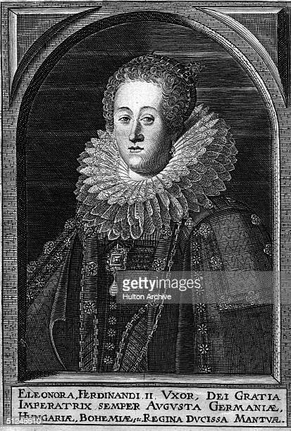 Circa 1625, Empress Eleonora of Germany and Hungary, , Queen Eleonora of Bohemia, the wife of Ferdinand II, the Holy Roman Emperor, in power from...