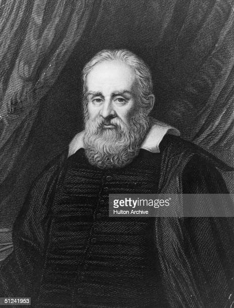 Circa 1630, Italian astronomer and physicist Galileo . Engraving after Ramsey