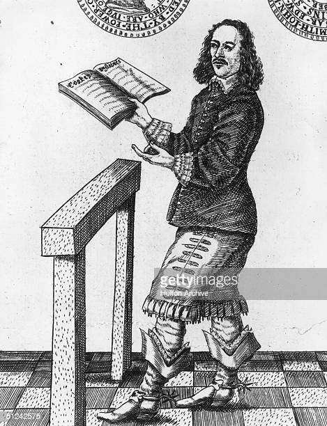 Circa 1650 Colonel John Lilburne an English pamphleteer who fought in the Parliamentary Army during the Civil War A Puritan he belonged to a group...
