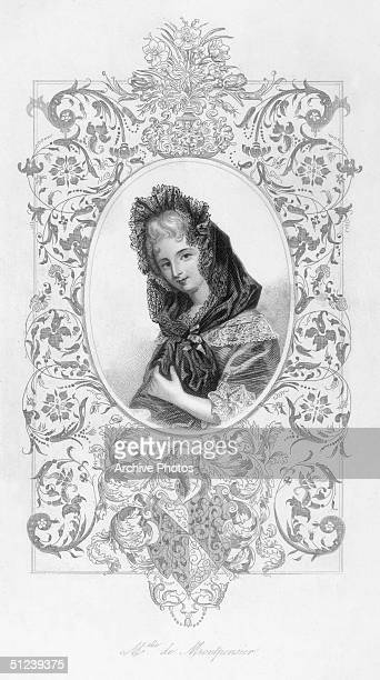 Circa 1660 Anne Marie Louise d'Orleans Duchesse de Montpensier Niece of Louis XIII supported the King the 'Grande Conde' and her father in the Revolt...