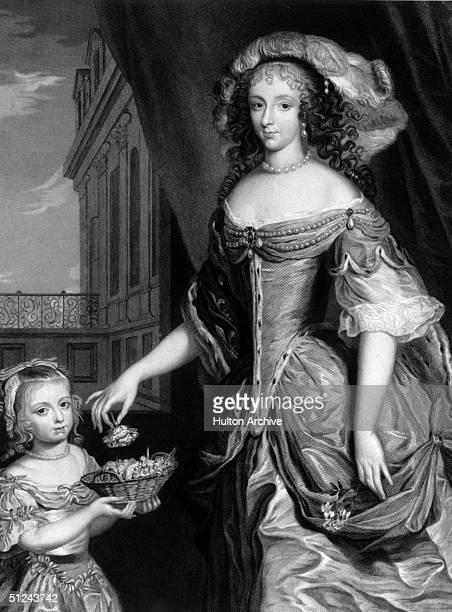 Circa 1665, Daughter of Charles I, and Duchess of Orleans, Henrietta Anne Stuart .