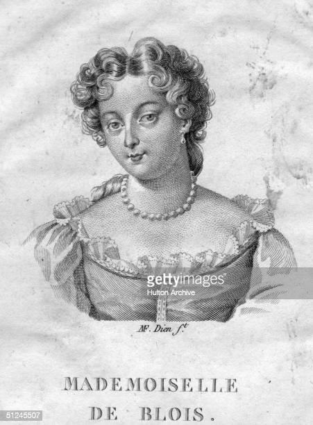 Circa 1690 Princess Marie Anne de Bourbon the daughter of King Louis XIV of France