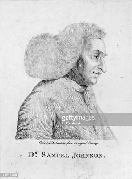 Circa 1700 English writer lexicographer and critic Samuel Johnson Original Publication From an original drawing by PS Lamborn