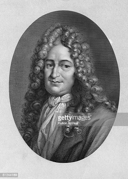 Circa 1711, An engraving of Gottfried Wilhelm von Leibniz German mathematician, philosopher and historian.