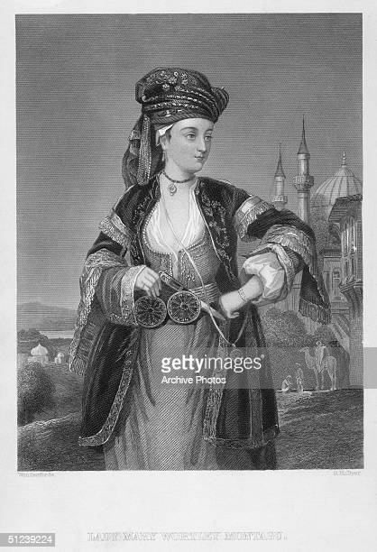 Circa 1720 Lady Mary Wortley Montagu English poet and correspondent wrote 'Letters from the East' 1763 her correspondence from Constantinople 1716...