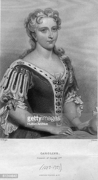 Circa 1727, Caroline, , Queen of Great Britain and consort of King George II. She was born Wilhelmina Caroline of Anspach.