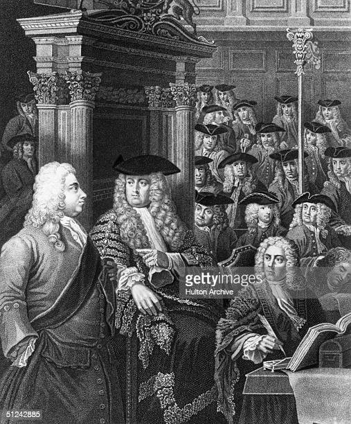 Circa 1730, The House of Commons during the administration of Sir Robert Walpole , the first British Prime Minister to take up residence at 10...