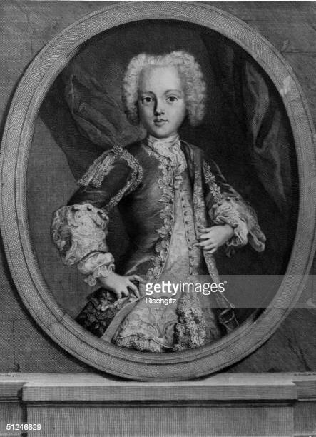 Circa 1735 Charles Edward Stuart known as the Young Pretender or Bonnie Prince Charlie who led the Scottish Highland army in the Fortyfive Rebellion...