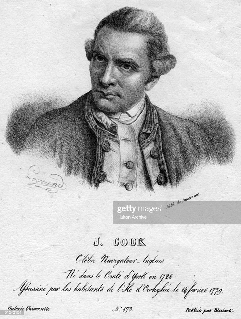 Circa 1750, English naval explorer Captain James Cook.