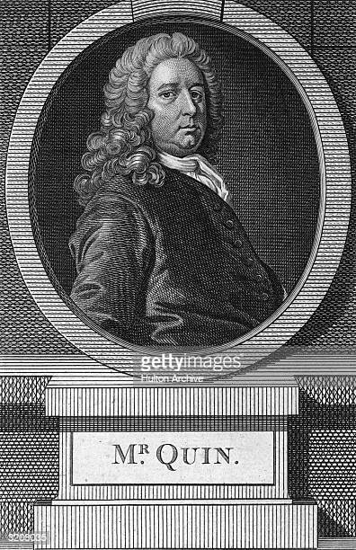 James Quin London born Irish actor. He debuted in Dublin in 1712, played small parts at the Drury Lane Theatre, London. Made a great success as...