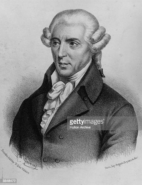 Classical composer Joseph Haydn who wrote the 'Emperor's Hymn' which later became the Austrian national anthem Original Artwork Engraving by Sarcy