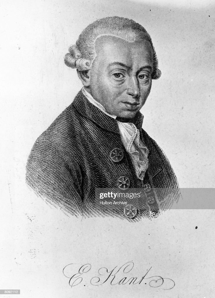 German philosopher Immanuel Kant (1724 - 1804). A Professor of Logic and Metaphysics at Konigsberg University, his controversial views on religion caused King Frederick William II of Prussia to ban him from teaching or writing on religious subjects.