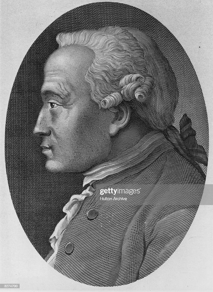 Immanuel Kant (1724 - 1804) the German philospoher.