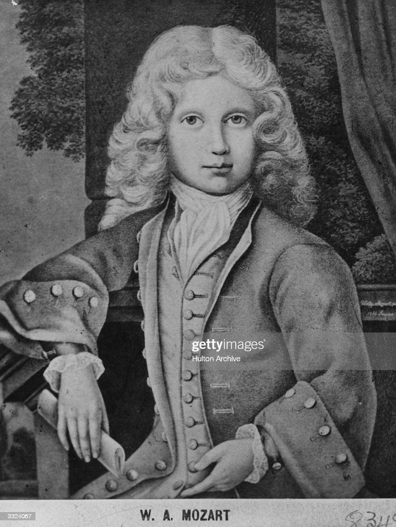 Mozart As Child : News Photo
