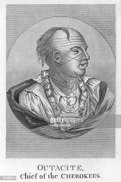 Outacity , Chief of the Cherokees, the largest Native American Indian tribe in southeastern United States, until European settlers caused their near...