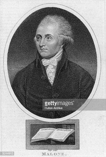 Edmond Malone Irish scholar member of Samuel Johnson's club at London from 1777 established the accepted order of Shakespeare's plays edited the...