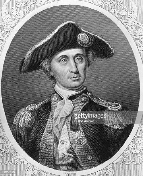 Scottish born American Naval Commander John Paul Jones During the War of Independence he commanded the flagship 'Bonhomme Richard' in battle against...
