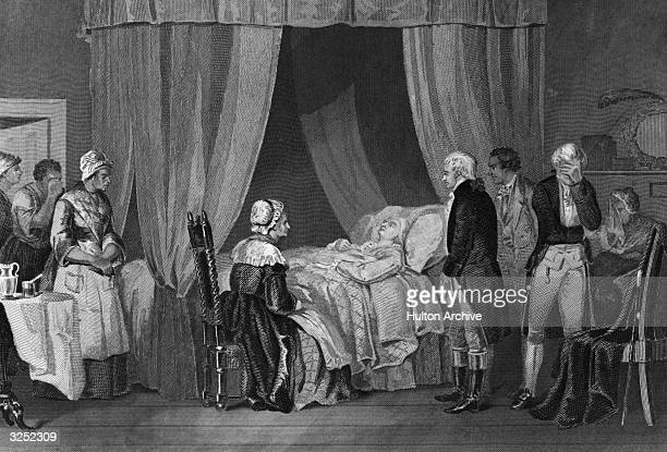The deathbed of George Washington the 1st President of the United States of America At the outbreak of the American Revolution he was chosen as...