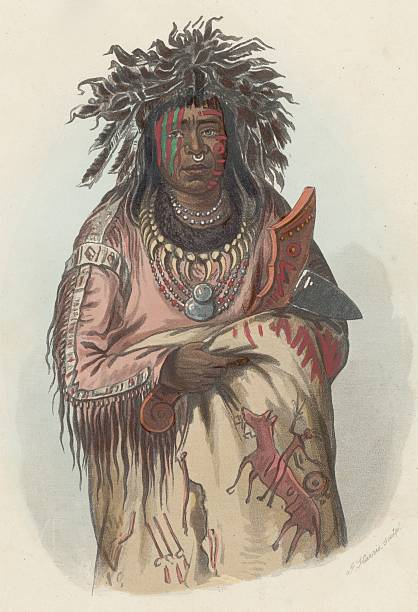 Ah-Quee-we-Zaints, known as The Boy, of the Ojibwa...