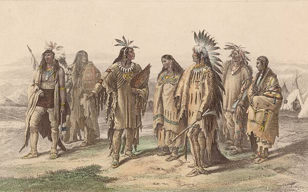 Representatives from various Native American tribes:...
