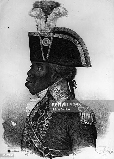 Pierre Dominique Toussaintl'Ouverture black revolutionary leader and liberator of Haiti Previously a slave he died in prison in France for his stance...