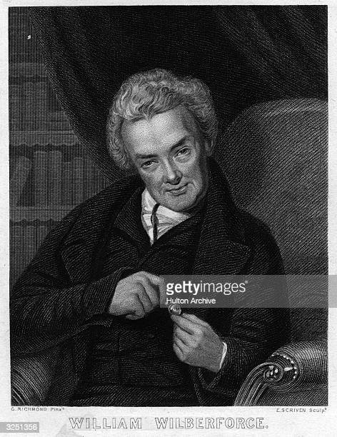 William Wilberforce the English politician, reformer and philanthropist, who succeeded in abolishing the Slave Trade Act in 1807.