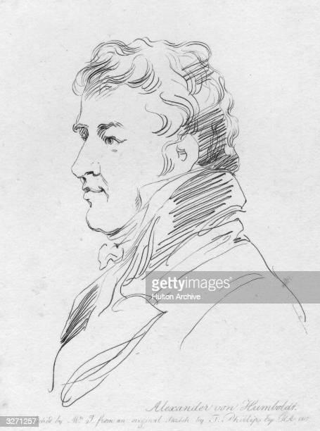 German naturalist and traveller Alexander von Humboldt Baron von Humboldt Original Artwork Engraving after an original sketch