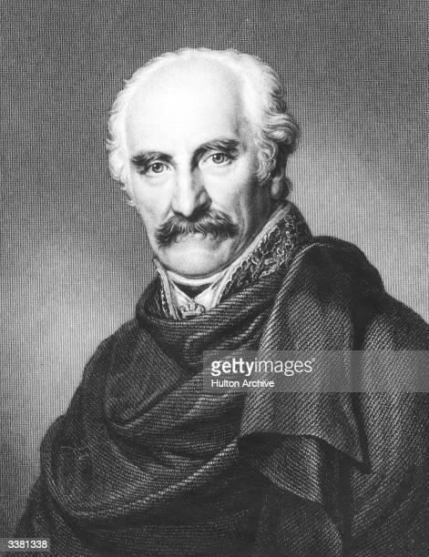 Prussian field marshal Gebhard Leberecht von Blucher . Original Artwork: Engraving by F C Grogen and T W Hailand.