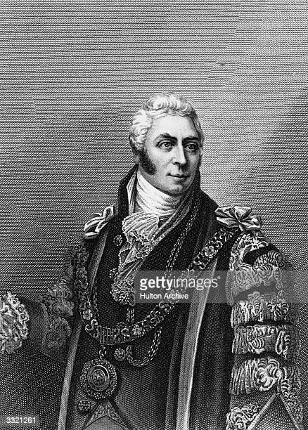 Lord Mayor of London and politician Sir Matthew Wood . Original Artwork: Engraving from the portrait in the Guildhall Collection