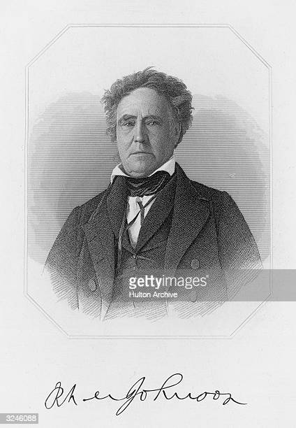 Portrait of Richard Mentor Johnson who was a member of the US House of Representatives 1807-19 and 1829-37, in the US Senate between 1819-29, and was...