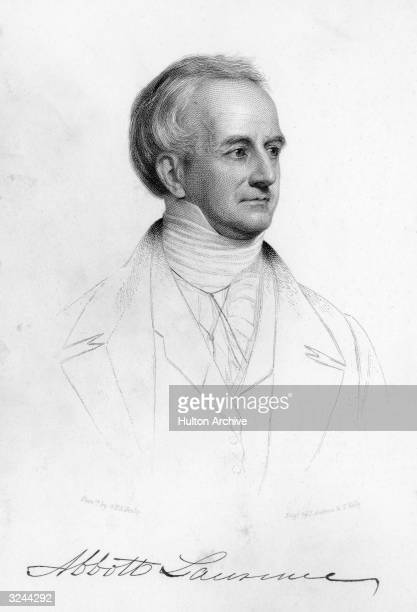 American merchant and politician Abbott Lawrence founded textile manufacture in Lawrence Massachusetts from 1845 member of US House of...