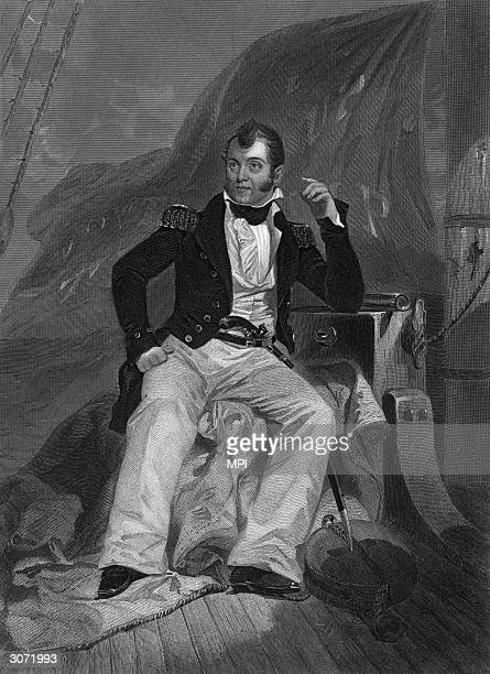 American naval commander Oliver Hazard Perry who during the war of 1812 built and equipped a naval fleet and defeated the British forces on Lake Erie...