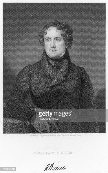 Nicholas Biddle American Financier Appointed By President Monroe News Photo Getty Images