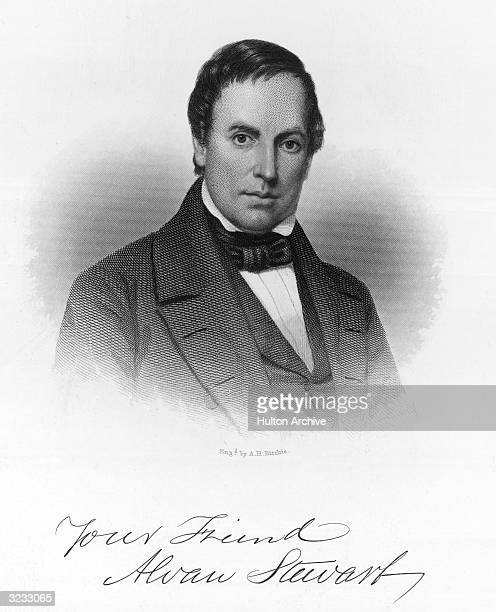 Alvan Stewart American lawyer and jurist who was an early advocate of temperance and the abolition of slavery Original Artwork Engraving by A H...