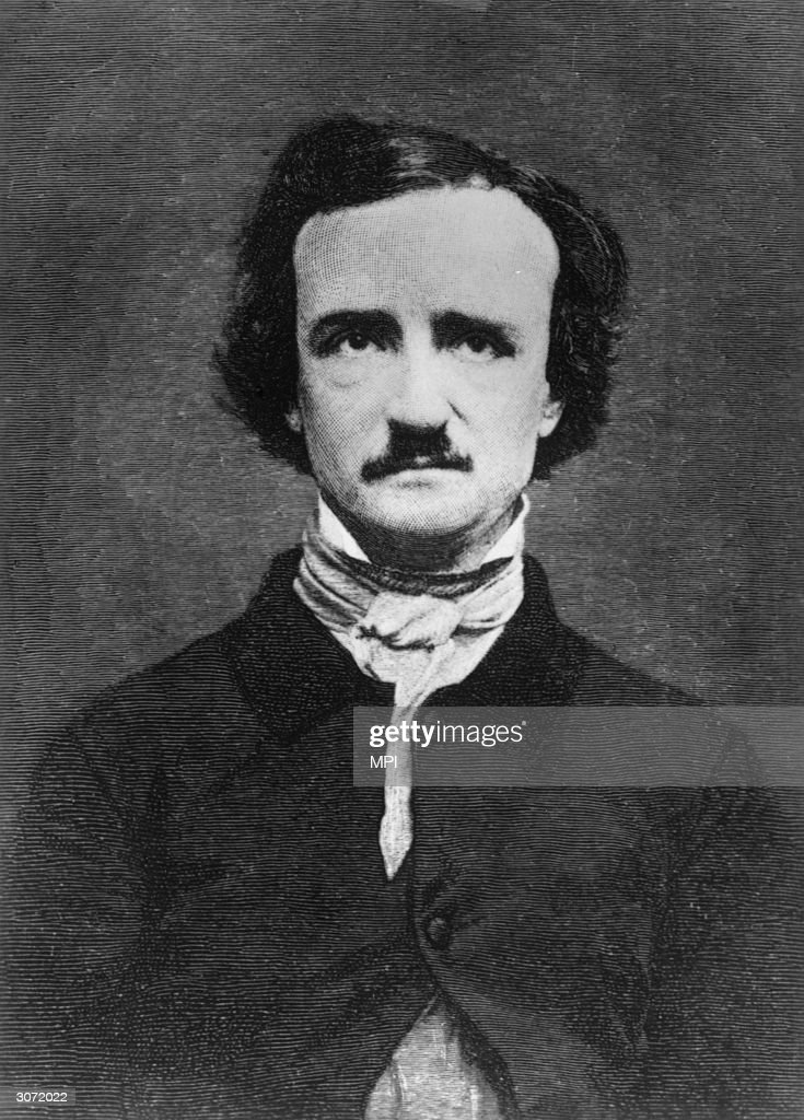 American short story writer, poet and critic Edgar Allan Poe (1809 - 1849).