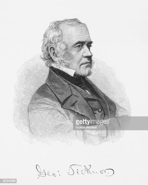 George Ticknor American author and educator who published 'History of Spanish Literature' in 1849 and helped found the Boston Public Library