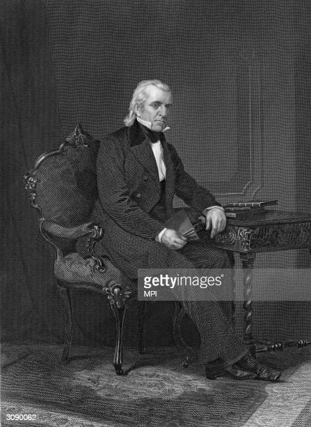 James K Polk the 11th President of the United States Original Artwork After Alonzo Chappel