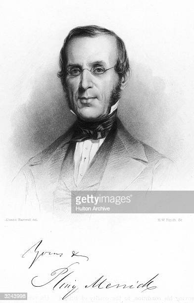 Pliny Merrick American lawyer and politician to Massachusetts bar judge state senator 1849 Original Artwork Engraved by H W Smith