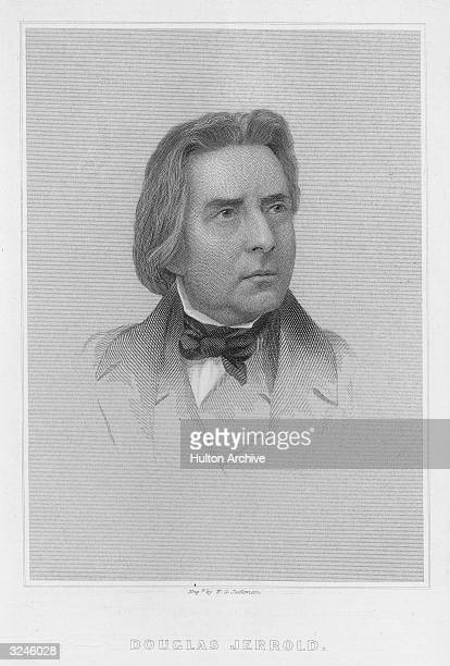 Portrait of English playwright Douglas William Jerrold contributor to 'Punch' and editor of 'Lloyd's Weekly' from 1852 Some of his plays include...