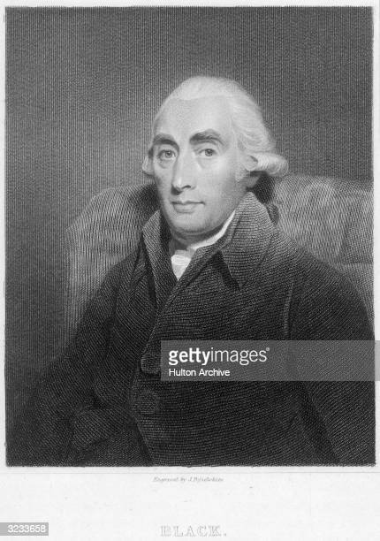 Scottish chemist and professor of medicine Joseph Black who taught at University of Glasgow and Edinburgh and evolved the theory of latent and...
