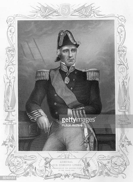Sir Edmund Lyons English naval officer and diplomat commanded the British fleet in the Black Sea in the Crimean War 185356 made admiral Original...