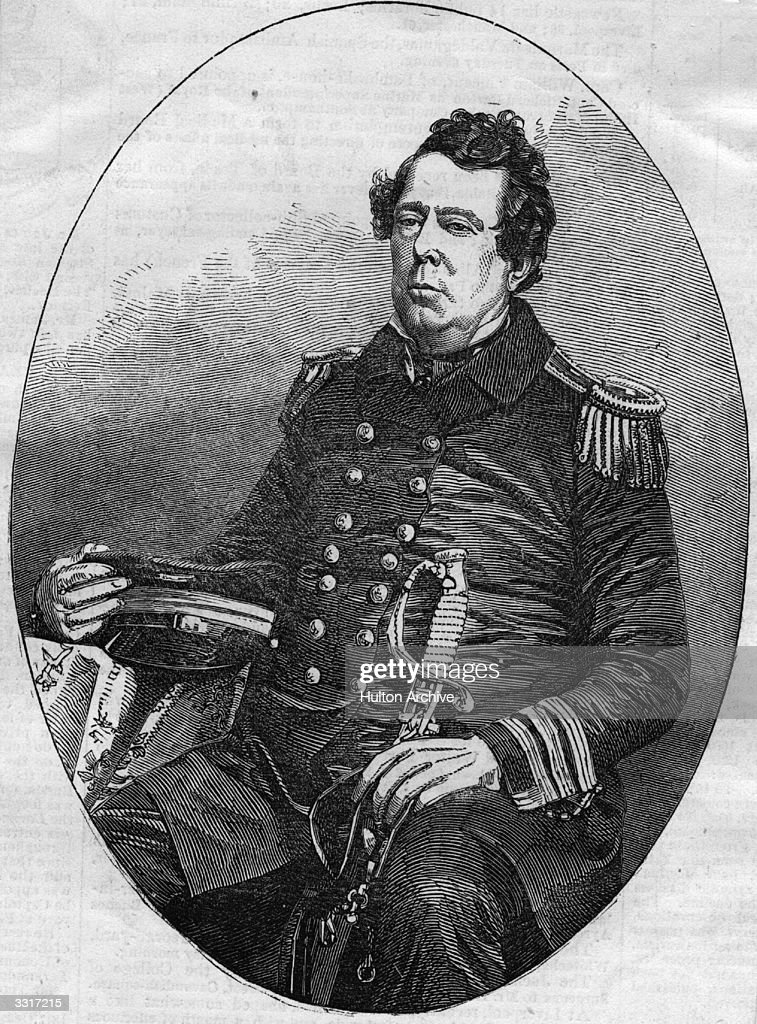 US naval officer Matthew Galbraith Perry (1794 - 1858), who led the naval expedition to Japan of 1852 - 1854 which compelled Japan to enter into diplomatic negiotations with the USA and to allow trading rights. He had also commanded the Gulf fleet during the Mexican War of 1846-47.