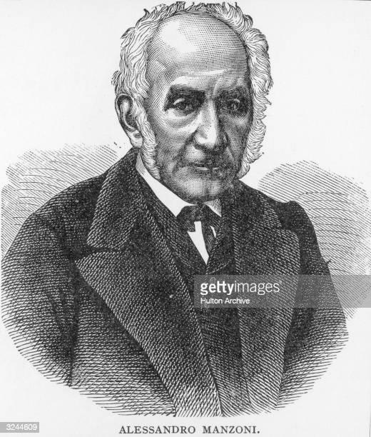 Alessandro Manzoni . Italian novelist and poet, leader of the Italian Romantic School, known especially for his novel, 'I Promessi Sposi' , 1825-27,...