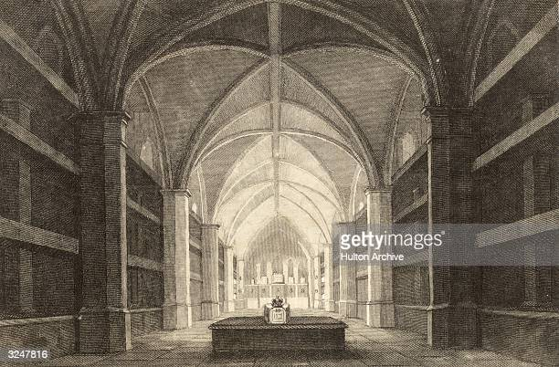 The Royal Mausoleum in the vaults of St George's Chapel at Windsor Castle in Berkshire.
