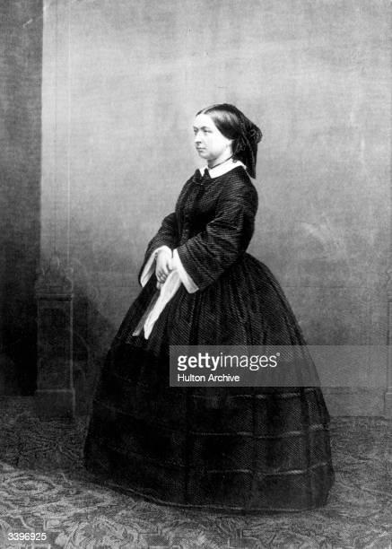 Victoria queen of the United Kingdom of Great Britain wearing a black dress