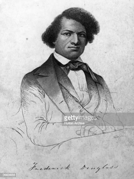 American abolitionist, writer and former slave, Frederick Douglass, originally Frederick Augustus Washington Bailey .