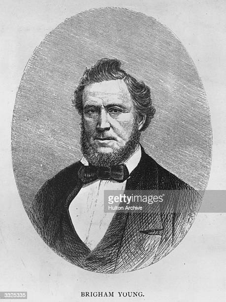 Brigham Young a prophet of the Mormon Church who succeeded Joseph Smith as president of the church in 1844